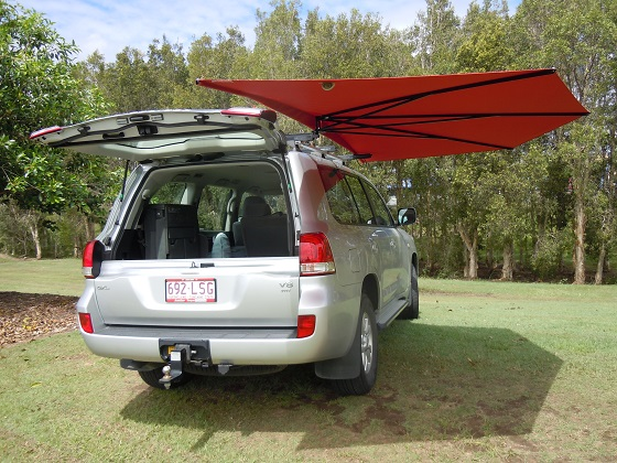 Camping shade awning CleverShade umbrella