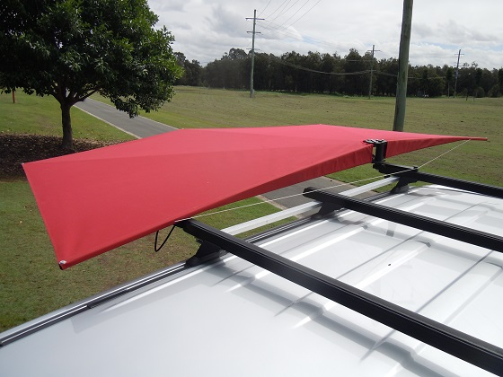 Car Shade CleverShade 4WD vehicle awning Red Canopy