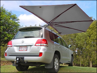Car Shade CleverShade 4WD vehicle awning Silver