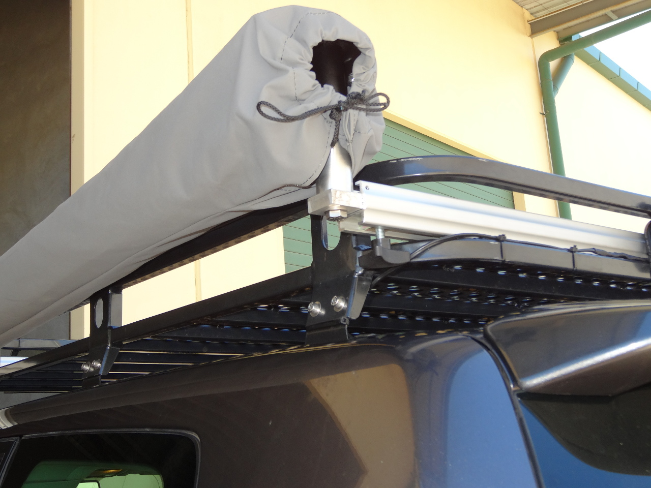 CleverShade packed away vehicle awning