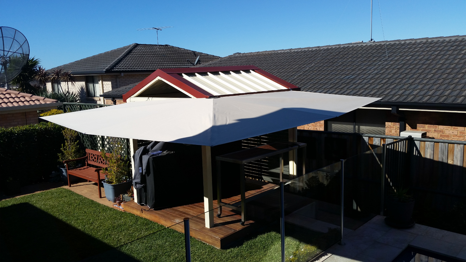 patio shade verandah awning clevershade