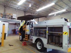 CleverShade Fire Truck Shade Awning Emergency Vehicle Shade