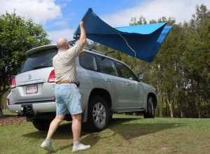 Vehicle awning 4wd camping CleverShade shade