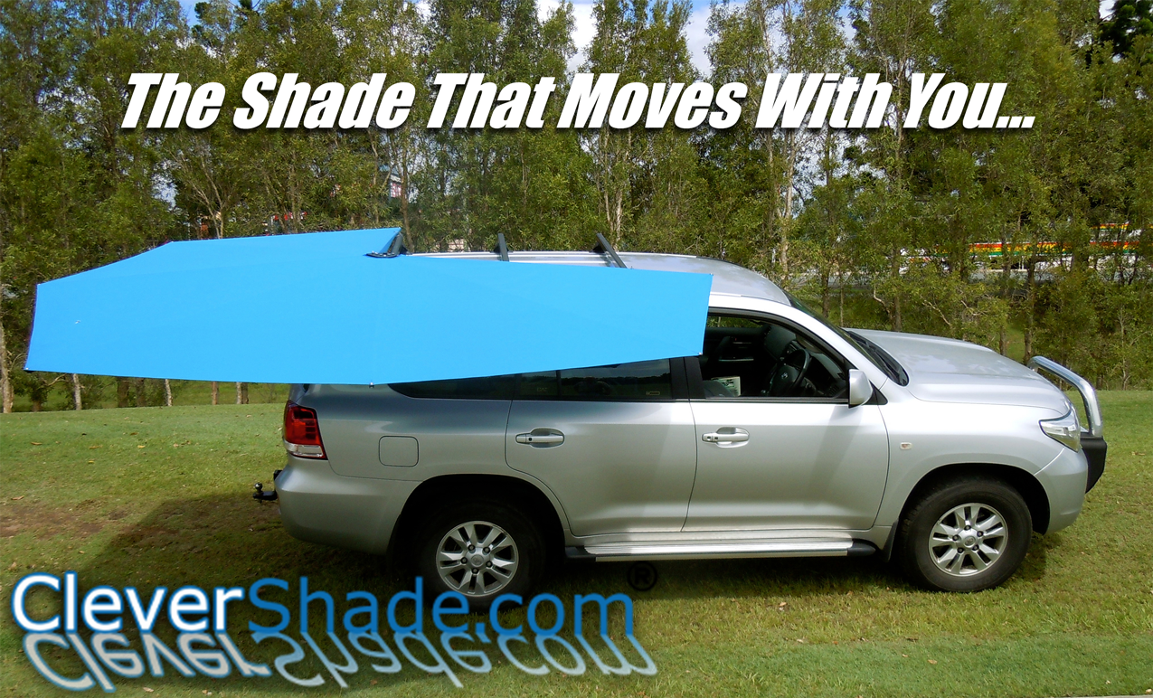 CleverShade 4WD Vehicle awning shade offroad black knight